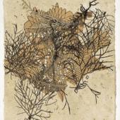 Hannah Höch: Ohne Titel (1940er Jahre), Collage mit gepressten Gräsern, Berlinische Galerie – Landesmuseum für Moderne, Kunst, Fotografie und Architektur, Berlin, VG Bild- Kunst, Bonn 2017
