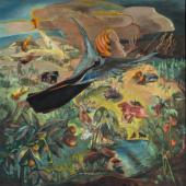 Hannah Höch: Vertreibung aus dem Paradies, 1937, Öl auf Leinwand, Privatsammlung, VG Bild-Kunst, Bonn 2017