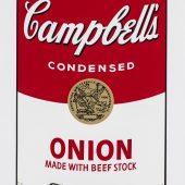Andy Warhol: Campbell's Soup I, 1968 Portfolio mit 10 Siebdrucken auf Papier 88,9 x 58,5 cm, Edition: 183/250, davon 5 ausgestellt, signiert Verso mit Kugelschreiber, nummeriert Verso mit Stempel, Gedruckt von: Salvatore Silkscreen Co., Inc., New York Herausgeber: Factory Additions, New York Feldman/Schellmann/Defendi II.44-53, abgebildet: Nr. 47