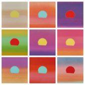Andy Warhol: Sunset, 1972 10 Siebdrucke auf Papier, 86,4 x 86,4 cm, Verso Mitte unten: signiert, datiert und nummeriert mit Bleistift, Verso Stempel: Hotel Marquette Prints Aus einer Gesamtauflage von 632 Unikaten, davon 40 nummerierte Mappen mit je 4 Drucken, sowie 472 Einzeldrucke (davon 471 und 472 mit Markierung HC) Gedruckt von: Salvatore Silkscreen Co., Inc., New York Feldman/Schellmann/Defendi II.85-88, abgebildet: 345/470, 361/470, 374/470, 388/470, 402/470, 403/470, 407/470, 420/470, 444/470
