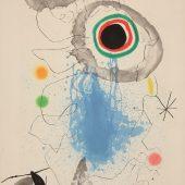 """L'astre du labyrinthe"" (Stern des Labyrinths) Farbaquatintaradierung mit Carborundum, 1967 © Successió Miró / VG Bild-Kunst, Bonn 2018 © Galerie Boisserée, Köln 2018"