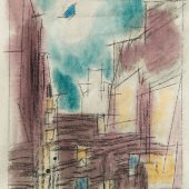 Ohne Titel (New York), 13 März 1945, Schwarze Tinte, Kreide und  Wasserfarbe, Harvard Art Museums, Busch-Reisinger Museum,  Schenkung von William S. Lieberman, © VG Bild-Kunst, Bonn 2019