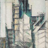 Rue St. Jacques, 1953, Öl a. Lwd.Marlborough International Fine Art, London, © VG Bild-Kunst, Bonn 2019