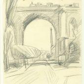 (Apolda, Viadukt), 1913, Bleistift auf Papier Kunstverein Apolda Avantgarde e. V., © VG Bild-Kunst, Bonn 2019