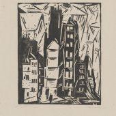 Pariser Häuser, 1919, Holzschnitt, Lyonel-Feininger-Galerie Quedlinburg, Stiftung Moritzburg, © VG Bild-Kunst, Bonn 2019